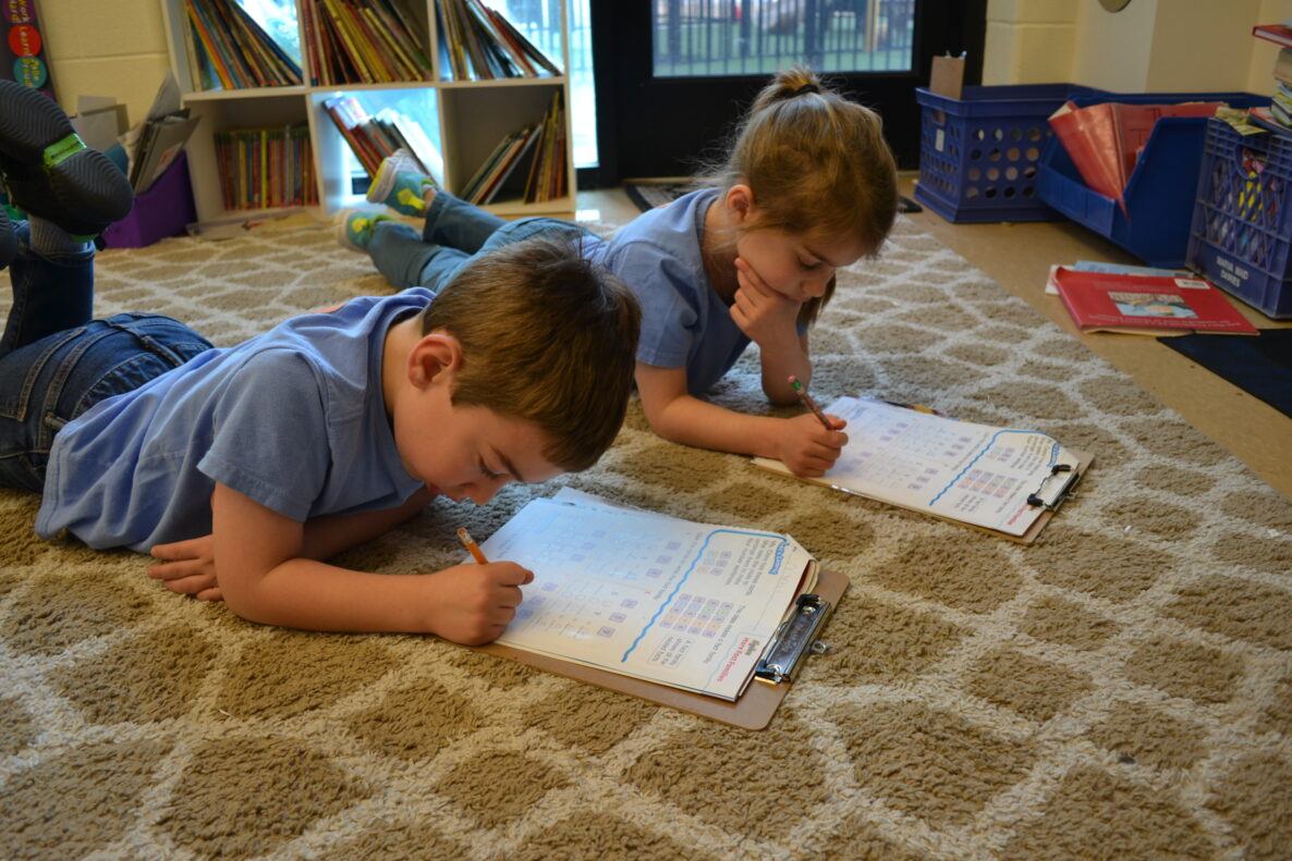 Students are learning at Private School in Virginia