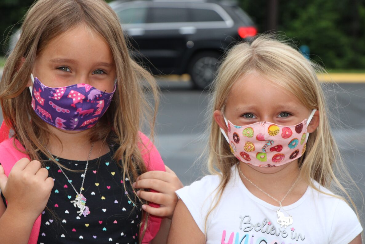 Students are Wearing Mask While Going To Private School