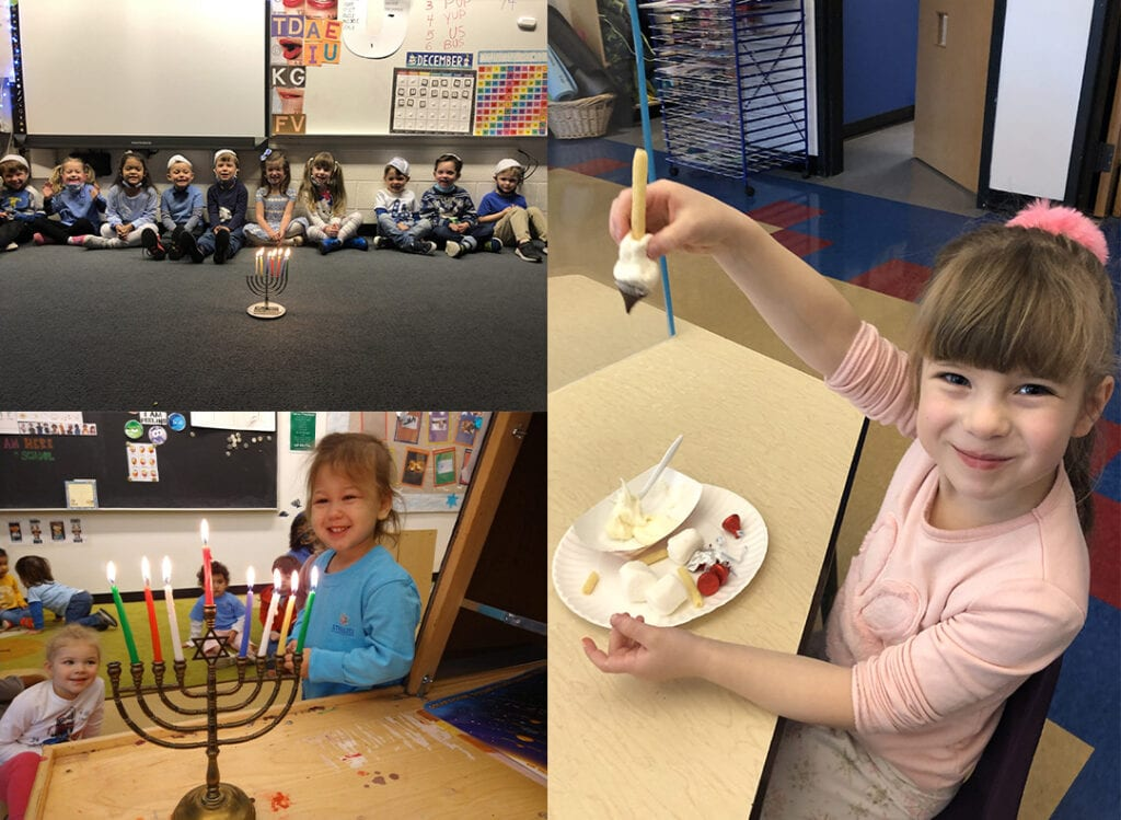 Chanukah learning by focusing on counting 8 candles
