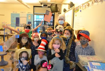 Group of Students Wear Mask to Celebrate Spirit Week