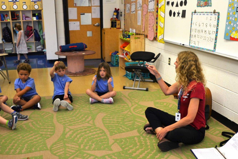Teacher teaching all Pre-Kindergarten students